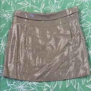 J.Crew Collection metallic mini skirt, Size 4